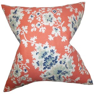 Danique Pink 18 x 18 Floral Throw Pillow
