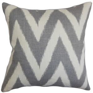 Bakana Gray 18 x 18 Zigzag Throw Pillow
