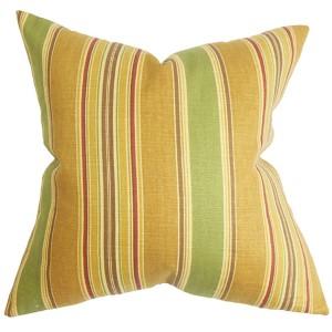 Hollis Green 18 x 18 Stripes Throw Pillow
