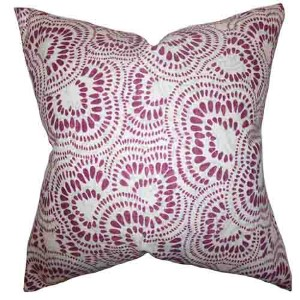 Glynis Purple 18 x 18 Floral Throw Pillow