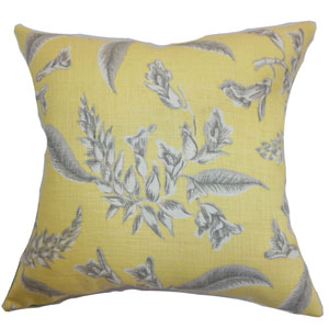 Kaitaia Floral Pillow Grey