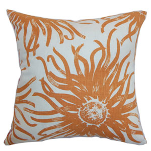 Ndele Floral Pillow Papaya