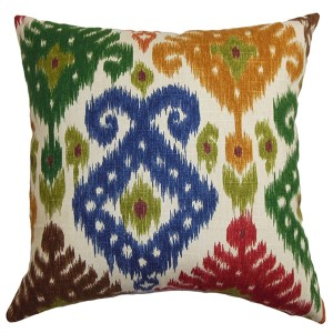 Kaula Green 18 x 18 Geometric Throw Pillow