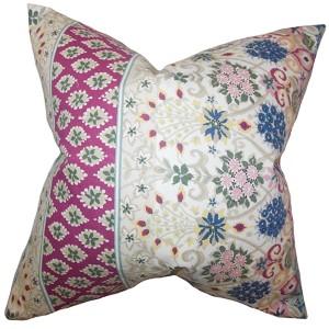 Kairi Multicolor 18 x 18 Floral Throw Pillow