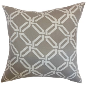 Ulei Gray 18 x 18 Geometric Throw Pillow
