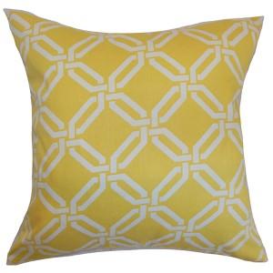 Ulei Yellow 18 x 18 Geometric Throw Pillow