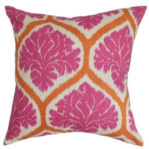 Priya Pink 18 x 18 Floral Throw Pillow
