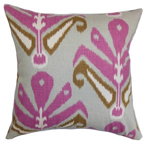 Sakon Purple 18 x 18 Patterned Throw Pillow