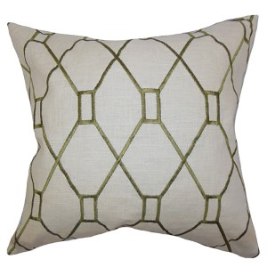 Nevaeh Green 18 x 18 Geometric Throw Pillow