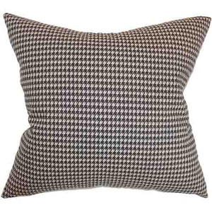 Lviv Brown 18 x 18 Plaid Throw Pillow