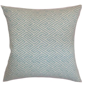Graz Sky Blue 18 x 18 Geometric Throw Pillow