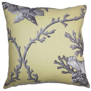 Maj Gray 18 x 18 Coastal Throw Pillow