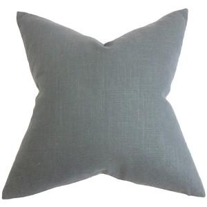 Yaretzi Gray 18 x 18 Solid Throw Pillow