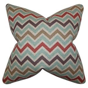 Howel Blue 18 x 18 Zigzag Throw Pillow