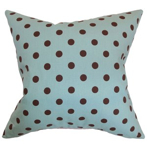 Nancy French Blue 18 x 18 Patterned Throw Pillow