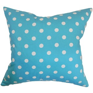 Nancy Girly Blue Twill 18 x 18 Patterned Throw Pillow