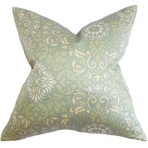 Seafarina Blue 18 x 18 Floral Throw Pillow
