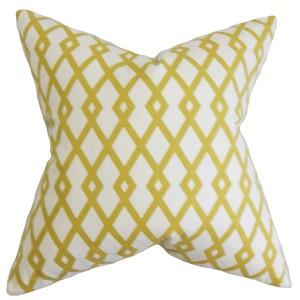 Tova Yellow 18 x 18 Geometric Throw Pillow