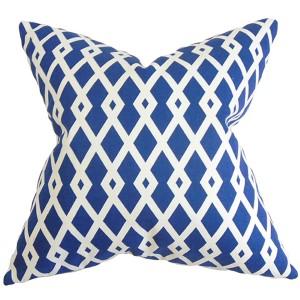 Tova Blue 18 x 18 Geometric Throw Pillow