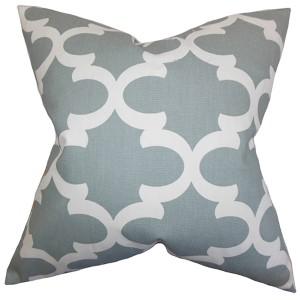 Titian Gray 18 x 18 Geometric Throw Pillow