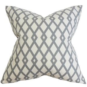 Tova Gray 18 x 18 Geometric Throw Pillow