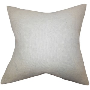 Ellery White 18 x 18 Solid Throw Pillow