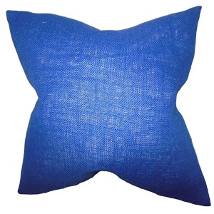 Ellery Navy Blue 18 x 18 Solid Throw Pillow