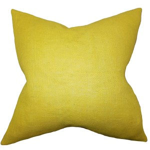 Ellery Yellow 18 x 18 Solid Throw Pillow