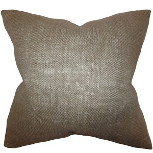 Ellery Gray 18 x 18 Solid Throw Pillow