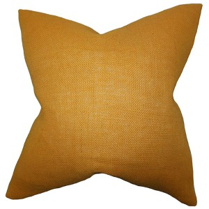 Ellery Mango 18 x 18 Solid Throw Pillow