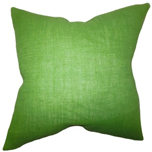 Ellery Apple Green 18 x 18 Solid Throw Pillow