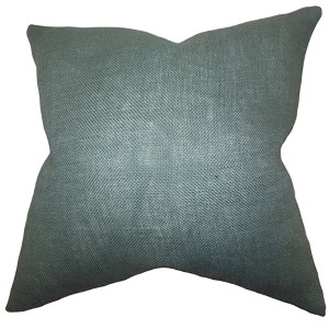 Ellery Blue Gray 18 x 18 Solid Throw Pillow