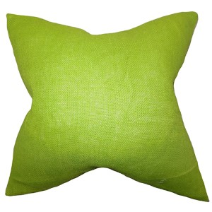 Ellery Lime Green 18 x 18 Solid Throw Pillow