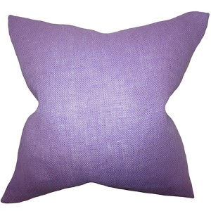 Ellery Purple 18 x 18 Solid Throw Pillow