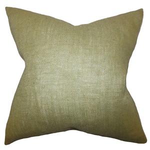 Ellery Moss Green 18 x 18 Solid Throw Pillow