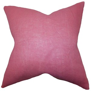 Ellery Pink 18 x 18 Solid Throw Pillow