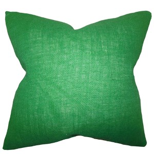 Ellery Green 18 x 18 Solid Throw Pillow