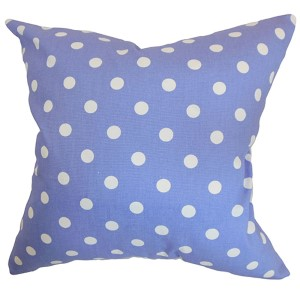 Nancy Purple 18 x 18 Patterned Throw Pillow