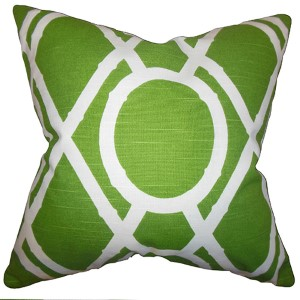 Whit Green 18 x 18 Geometric Throw Pillow