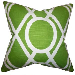 Whit Green 18 x 18 Geometric Throw Pillow
