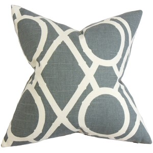 Whit Gray 18 x 18 Geometric Throw Pillow