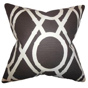 Whit Brown 18 x 18 Geometric Throw Pillow