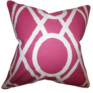 Whit Red 18 x 18 Geometric Throw Pillow