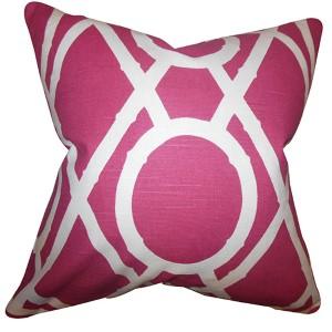 Whit Red 18 x 18 Geometric Throw Pillow