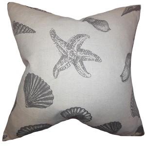 Brillie Gray 18 x 18 Coastal Throw Pillow