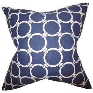 Bechet Blue 18 x 18 Geometric Throw Pillow