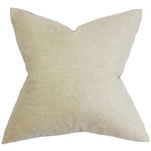 Yaretzi Ivory 18 x 18 Solid Throw Pillow