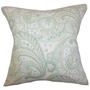 Iphigenia Green 18 x 18 Floral Throw Pillow
