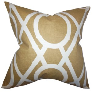 Whit Amber 18 x 18 Geometric Throw Pillow