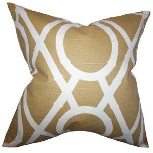 Whit Amber 18 x 18 Geometric Throw Pillow
